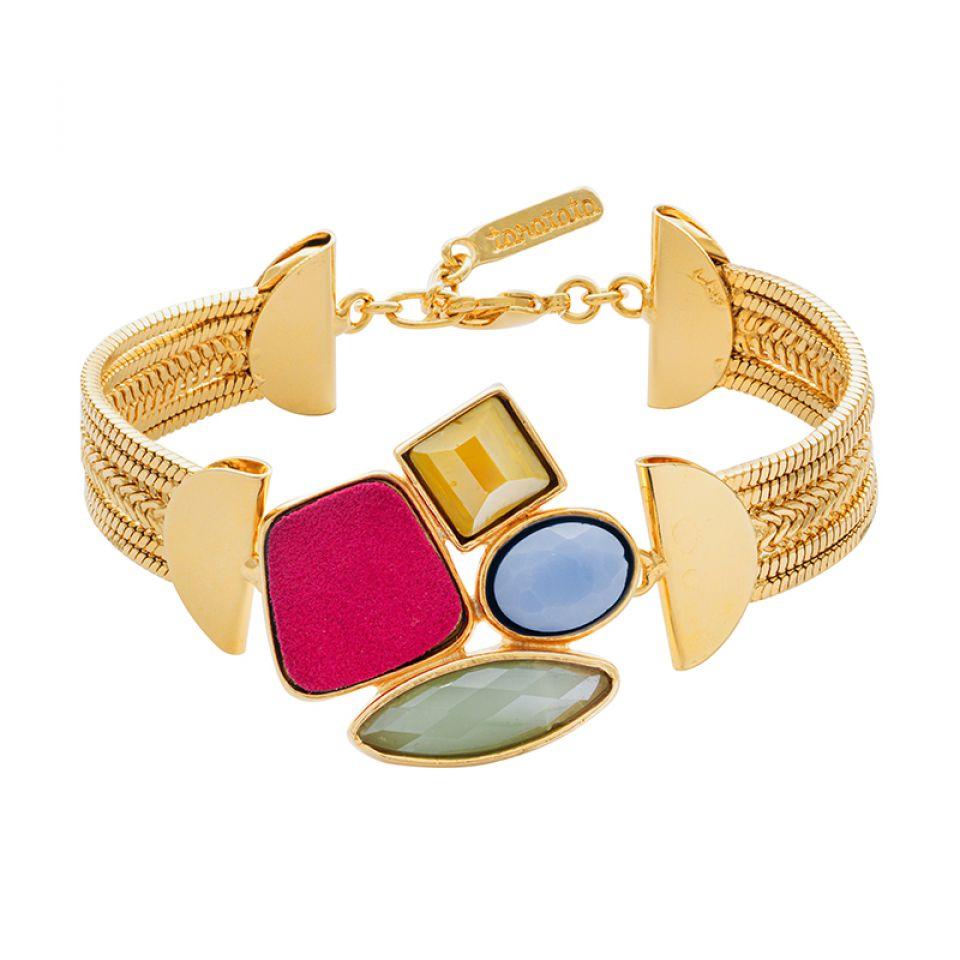 Bracelet Arc-en-ciel Dore Multi Taratata Bijoux Fantaisie en ligne 3