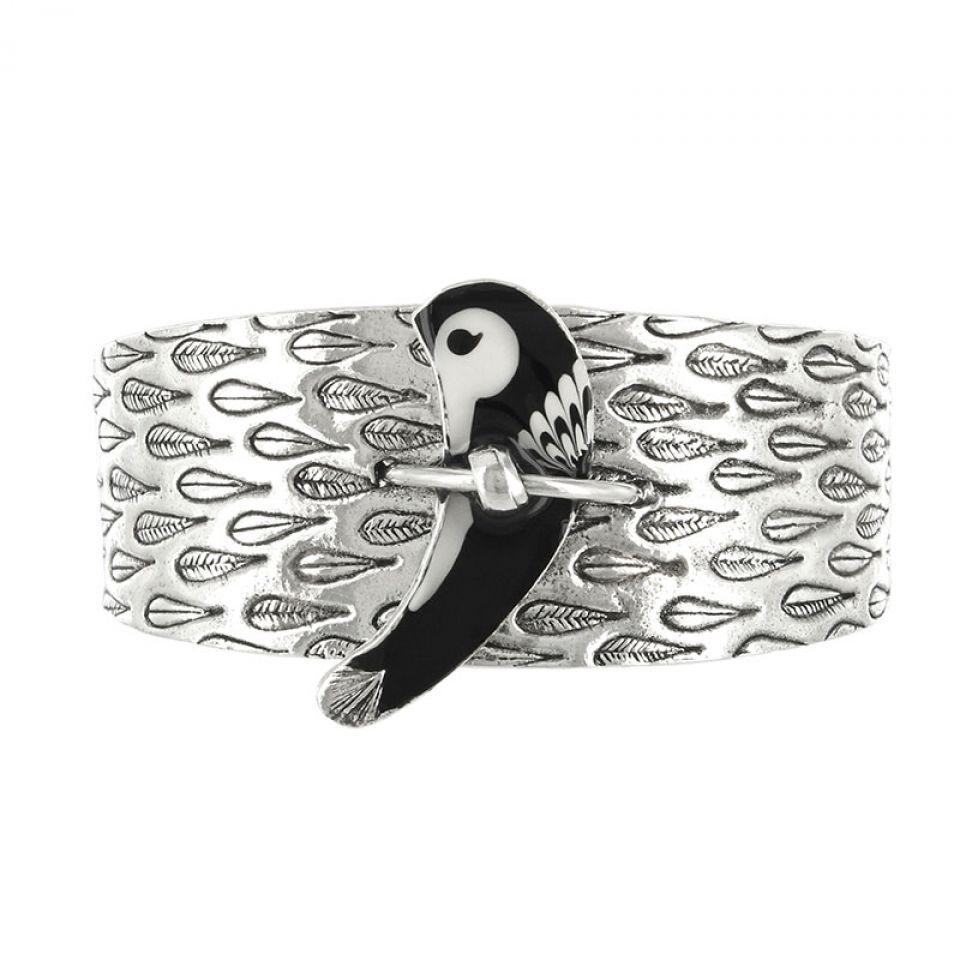 Bracelet Aronde Argent Noir Taratata Bijoux Fantaisie en ligne 1