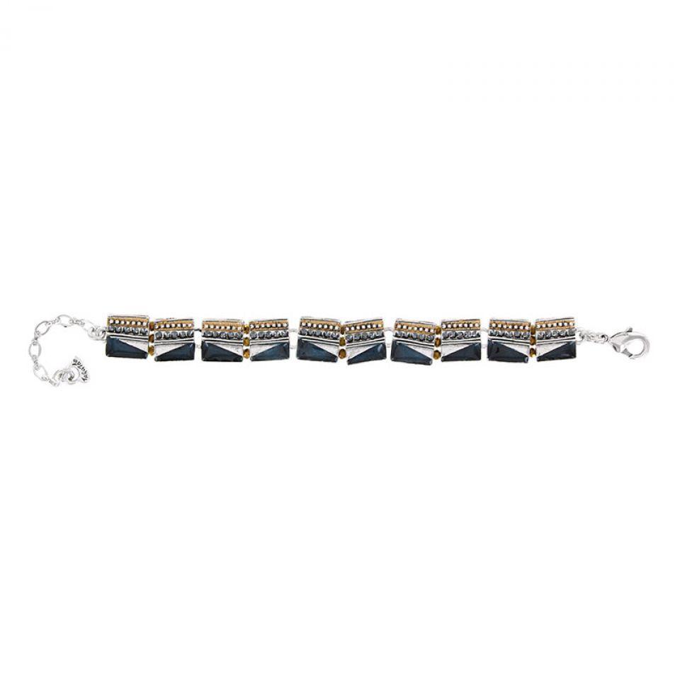 Bracelet Audrey Argent Bleu Taratata Bijoux Fantaisie en ligne 2