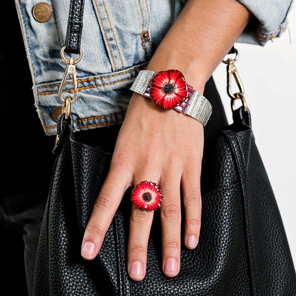 Bracelet Belle A Croquer Argent Rouge Taratata Bijoux Fantaisie en ligne 2