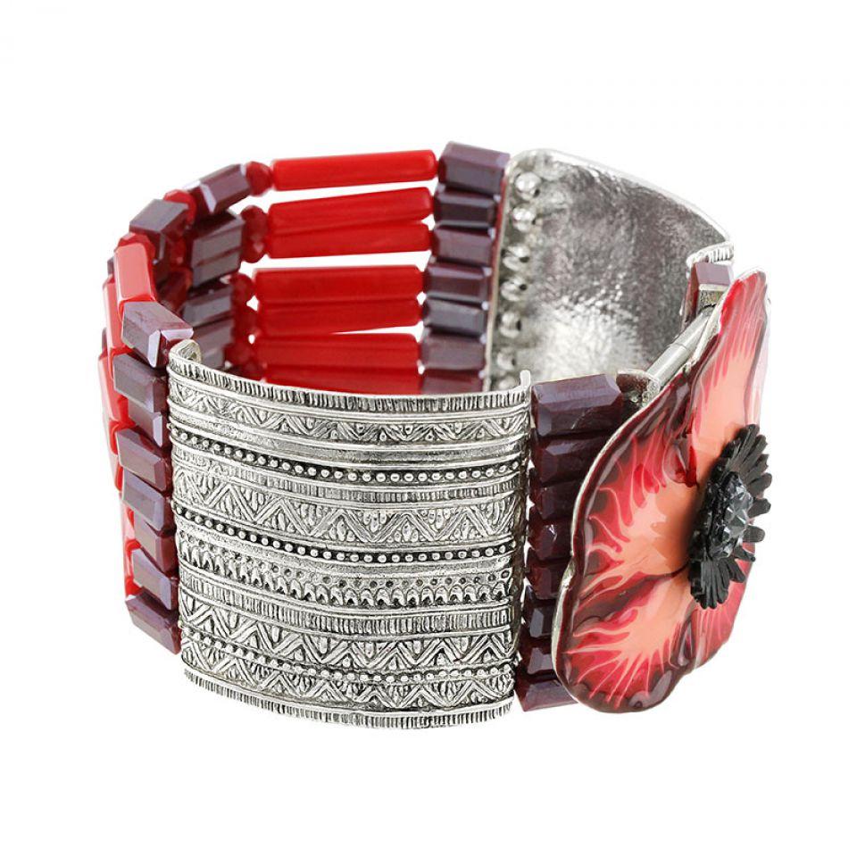 Bracelet Belle A Croquer Argent Rouge Taratata Bijoux Fantaisie en ligne 3