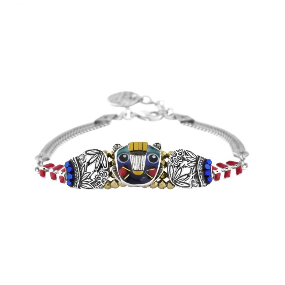 Bracelet Bengale Argent Multi Taratata Bijoux Fantaisie en ligne 1