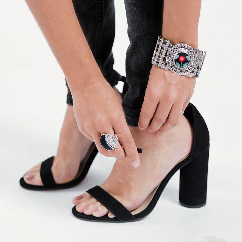 Bracelet Bergamote Argent Bleu Taratata Bijoux Fantaisie en ligne 2