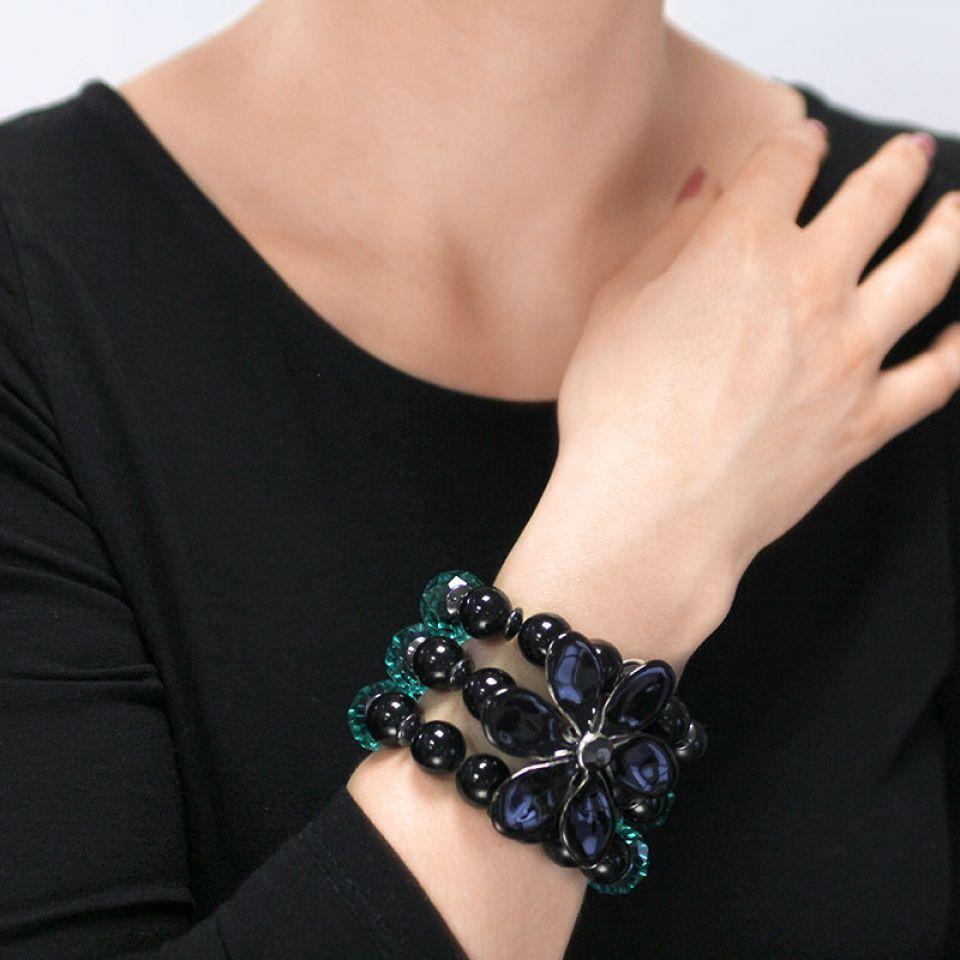 Bracelet Black Swan Noir Taratata Bijoux Fantaisie en ligne 2
