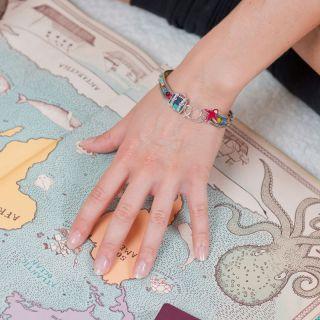 Bracelet Bon Voyage Argent Multi