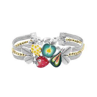 Bracelet Bonbon Argent Multi