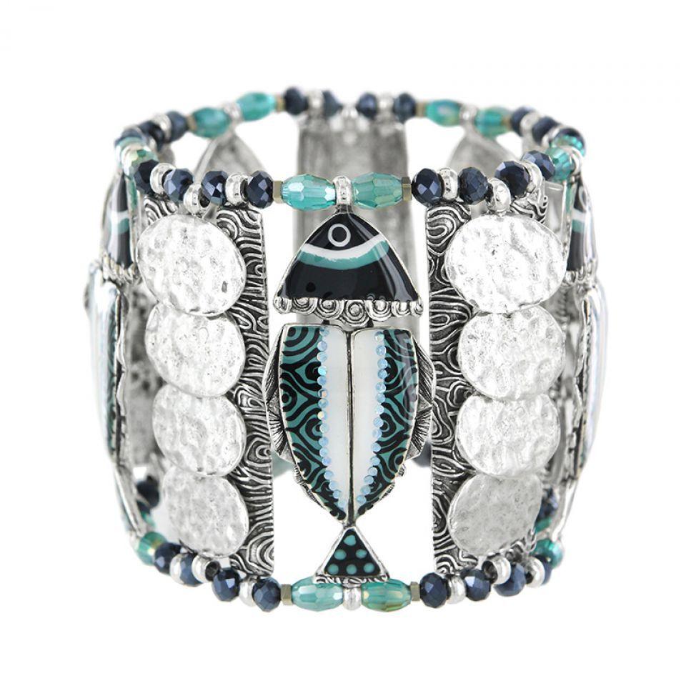 Bracelet Bonita Argent Bleu Taratata Bijoux Fantaisie en ligne 1