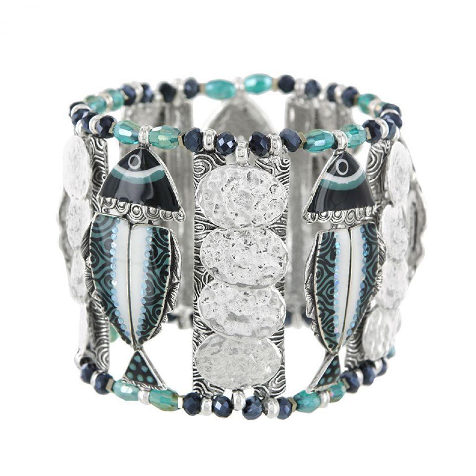 Bracelet Bonita Argent Bleu Taratata Bijoux Fantaisie en ligne 2