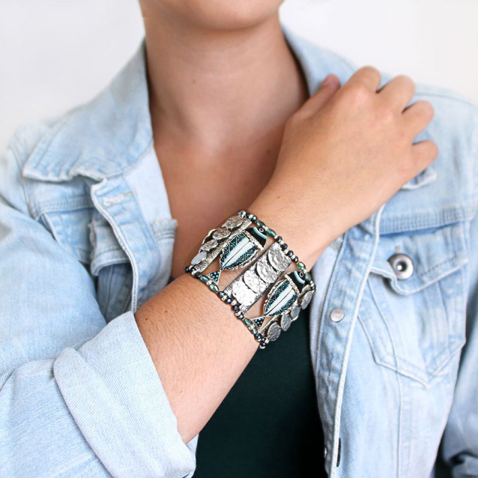 Bracelet Bonita Argent Bleu Taratata Bijoux Fantaisie en ligne 3