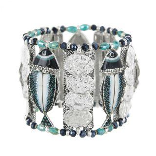 Bracelet Bonita Argent Bleu