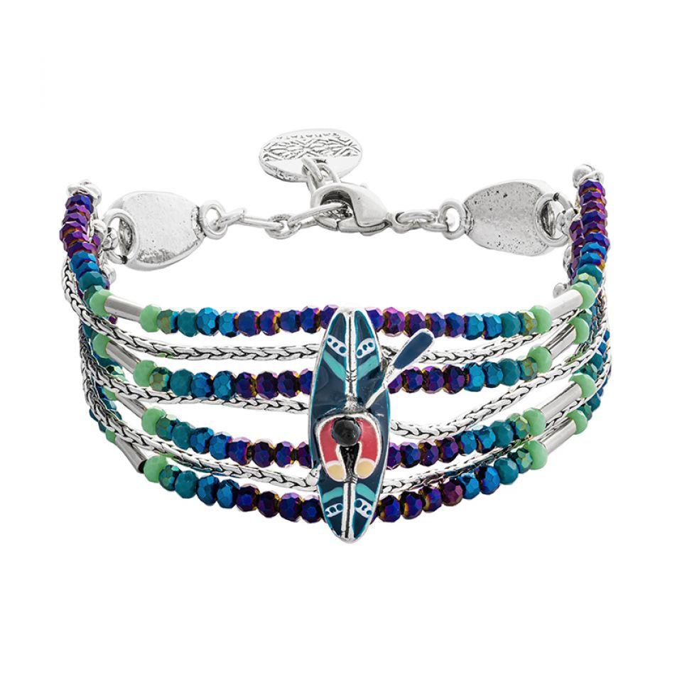 Bracelet Canoe Argente Multi Taratata Bijoux Fantaisie en ligne 1