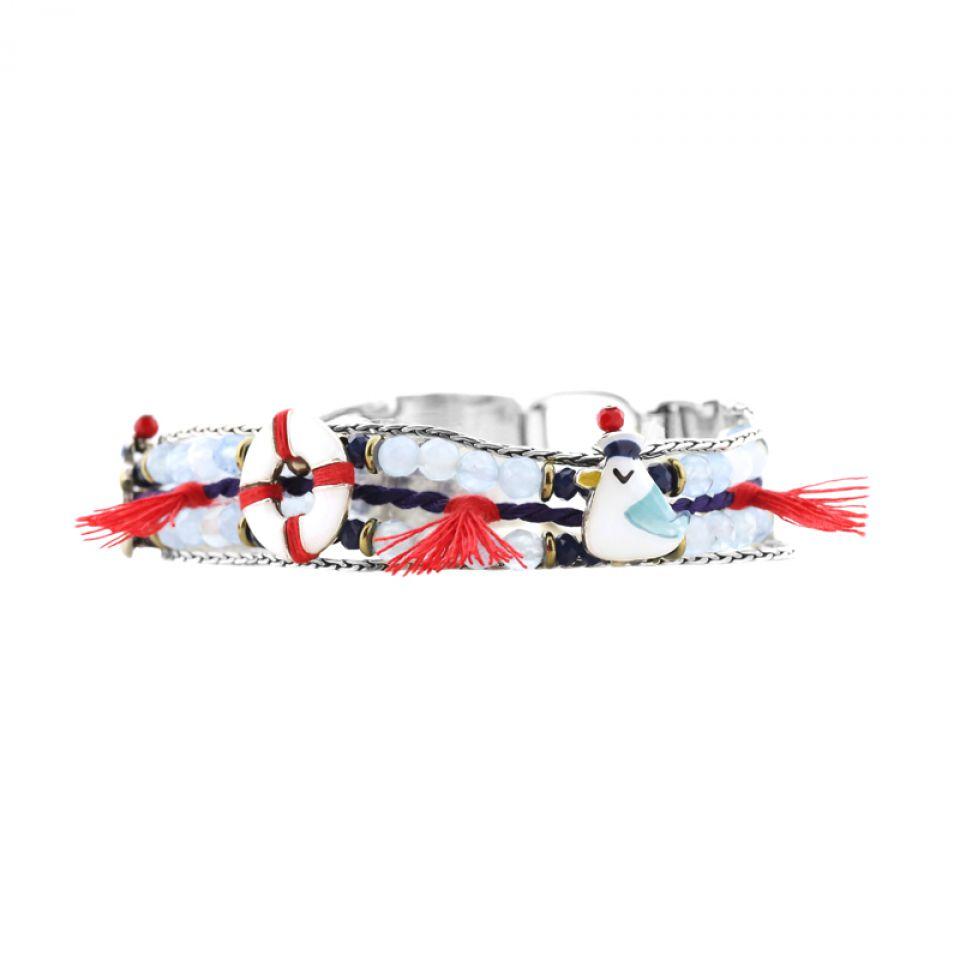 Bracelet Capitaine Argent Bleu Taratata Bijoux Fantaisie en ligne 1