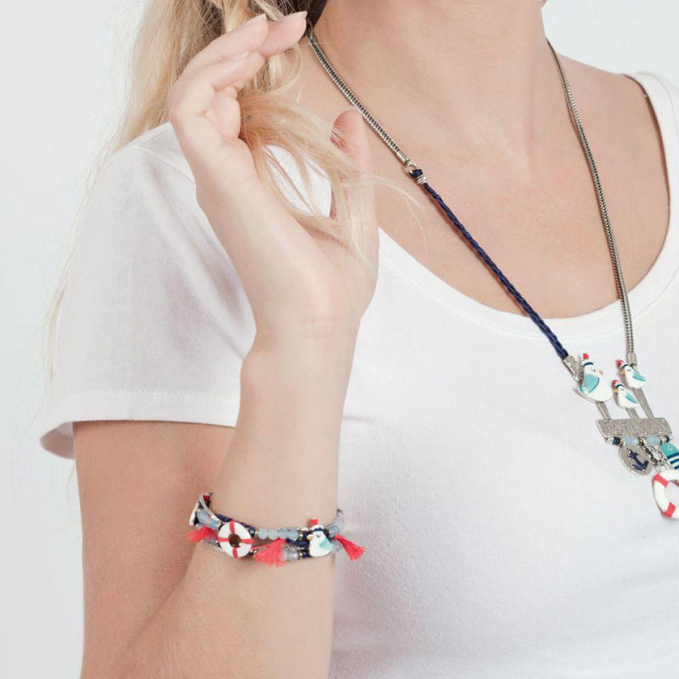 Bracelet Capitaine Argent Bleu Taratata Bijoux Fantaisie en ligne 2