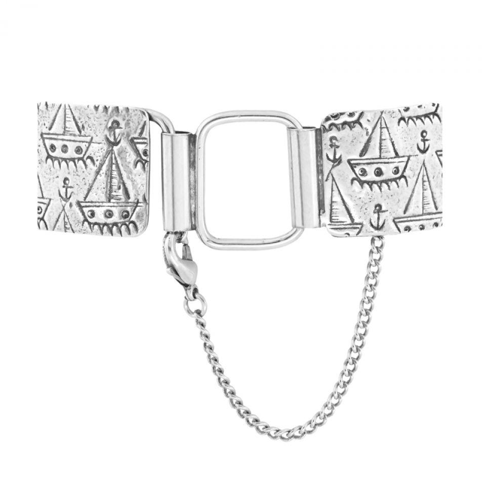 Bracelet Capitaine Argent Bleu Taratata Bijoux Fantaisie en ligne 4