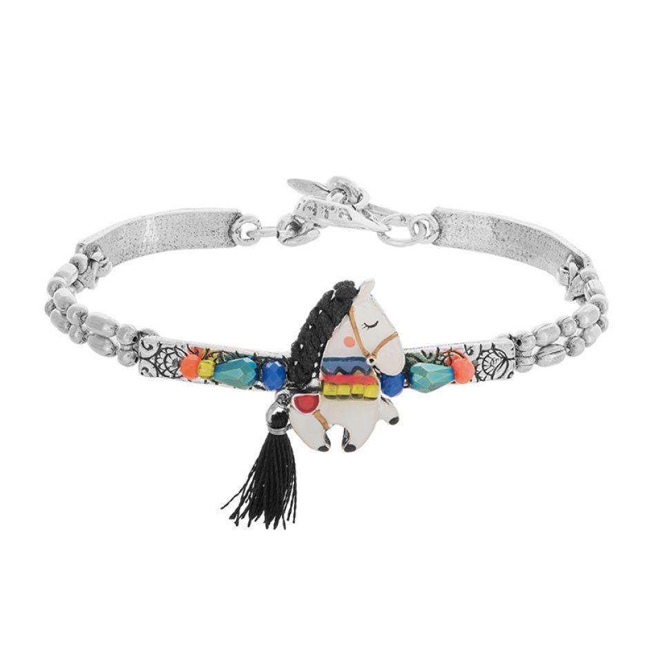Bracelet Carroussel Argente Multi Taratata Bijoux Fantaisie en ligne 1