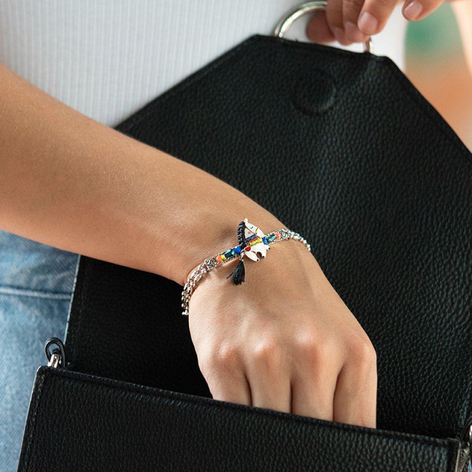 Bracelet Carroussel Argente Multi Taratata Bijoux Fantaisie en ligne 2