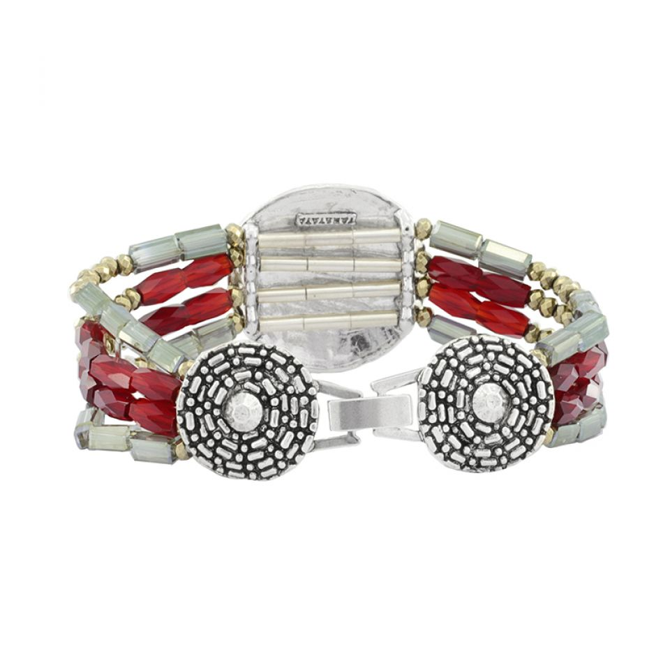 Bracelet Ce Soir Argent Rouge Taratata Bijoux Fantaisie en ligne 3