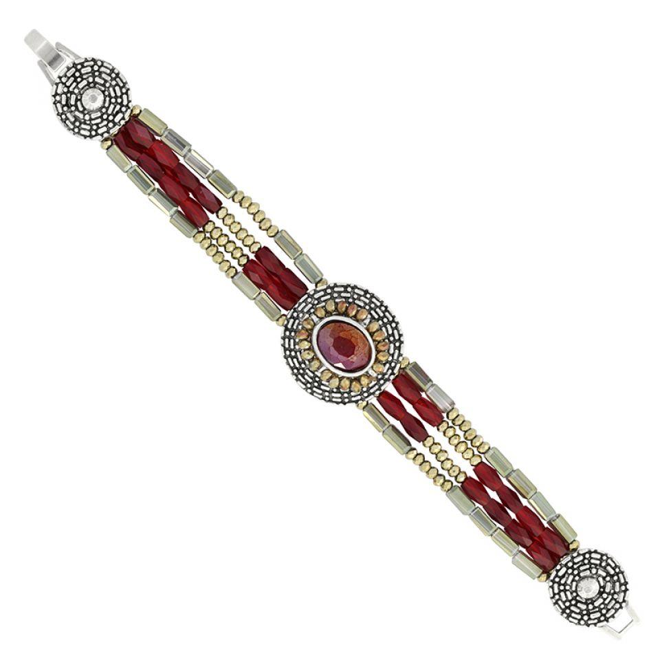 Bracelet Ce Soir Argent Rouge Taratata Bijoux Fantaisie en ligne 4