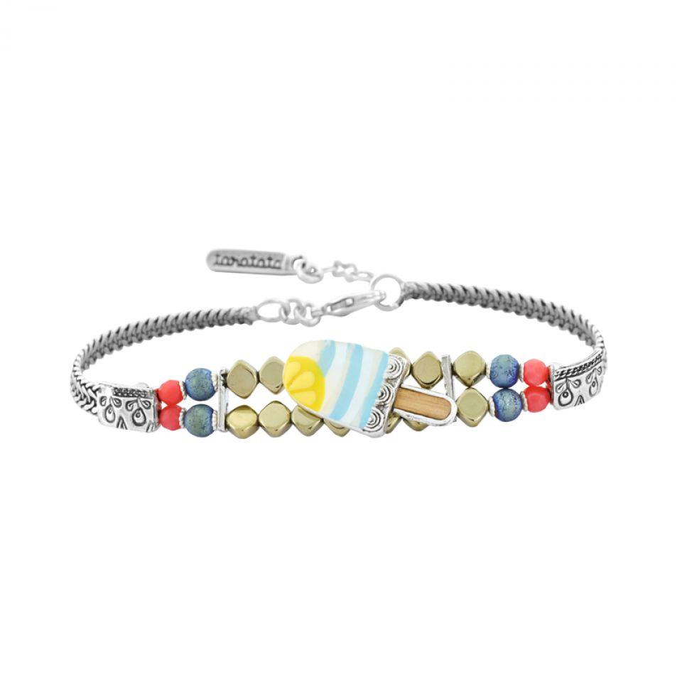 Bracelet Chouchous Argent Bleu Taratata Bijoux Fantaisie en ligne 3