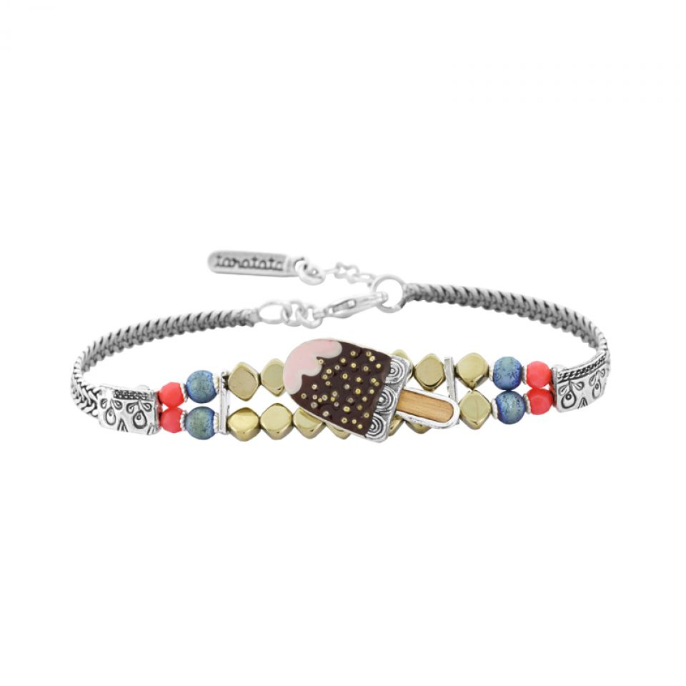 Bracelet Chouchous Argent Marron Taratata Bijoux Fantaisie en ligne 1