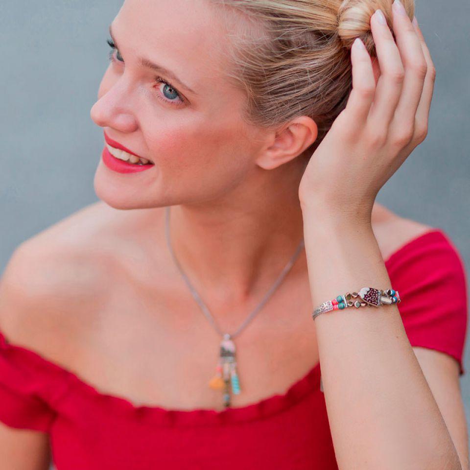 Bracelet Chouchous Argent Marron Taratata Bijoux Fantaisie en ligne 2