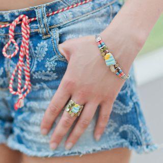Bracelet Chouchous Argent Bleu