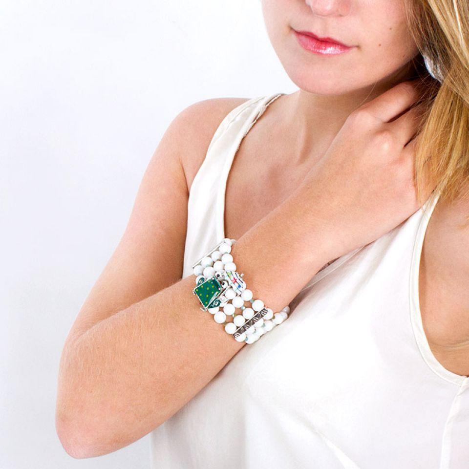 Bracelet Claquette Argent Multi Taratata Bijoux Fantaisie en ligne 1