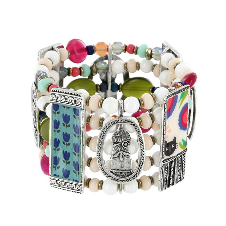 Bracelet Colette Argent Multi Taratata Bijoux Fantaisie en ligne 1