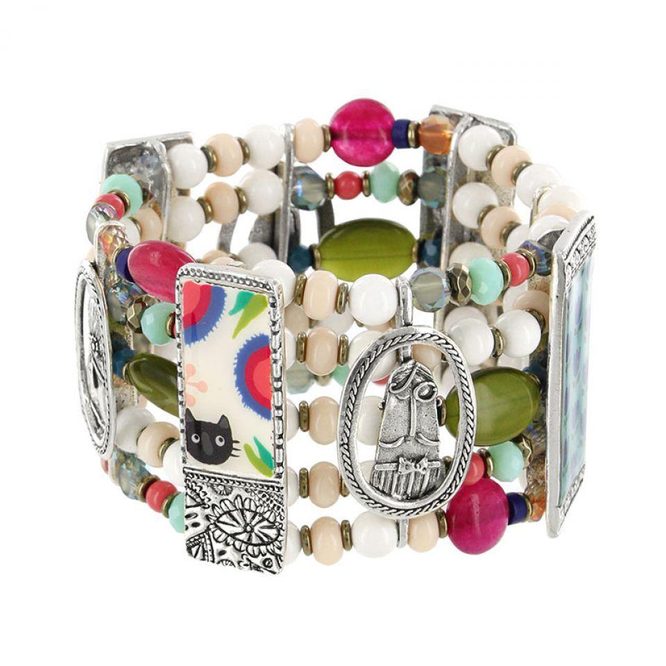 Bracelet Colette Argent Multi Taratata Bijoux Fantaisie en ligne 3