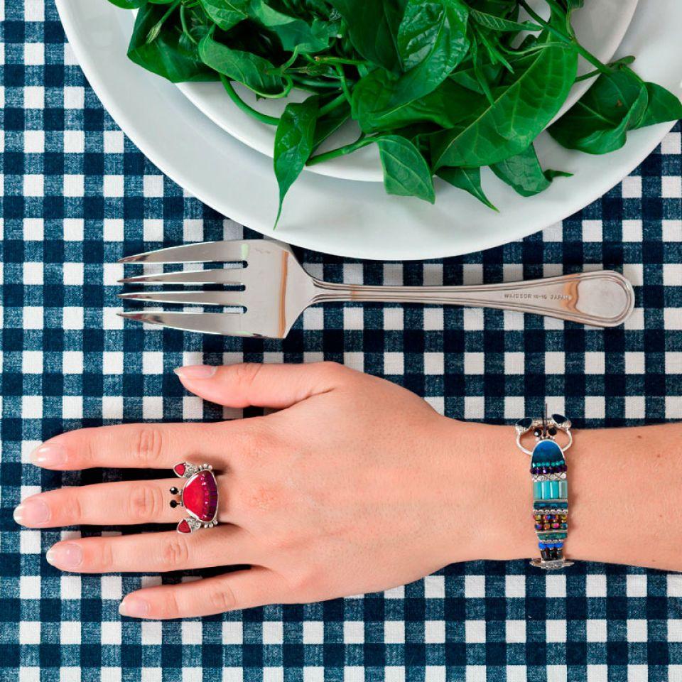 Bracelet Corail Argent Bleu Taratata Bijoux Fantaisie en ligne 2