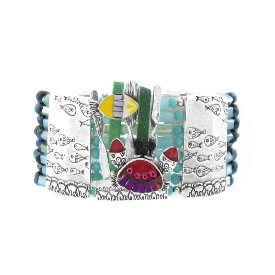 Bracelet Corail Argent Multi Taratata Bijoux Fantaisie en ligne 1