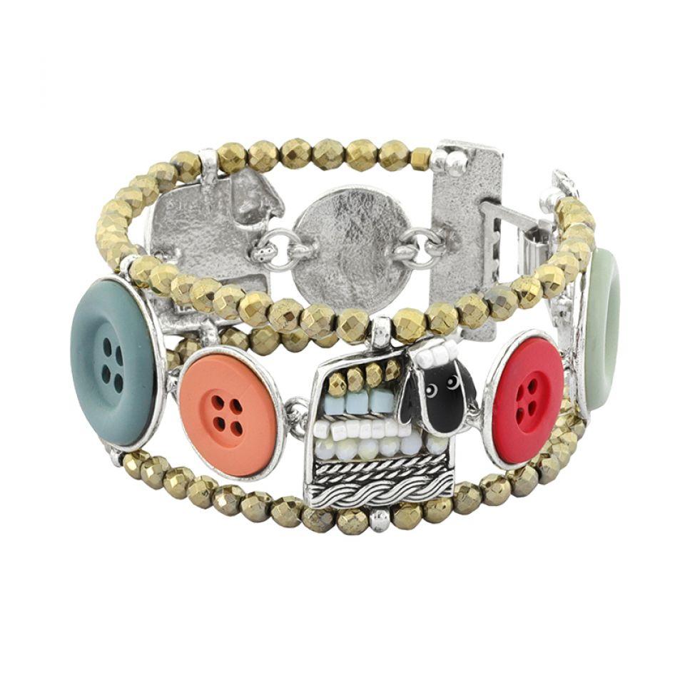 Bracelet Cousu-main Argent Multi Taratata Bijoux Fantaisie en ligne 1