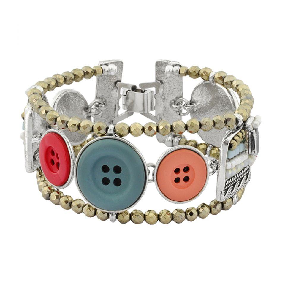 Bracelet Cousu-main Argent Multi Taratata Bijoux Fantaisie en ligne 3