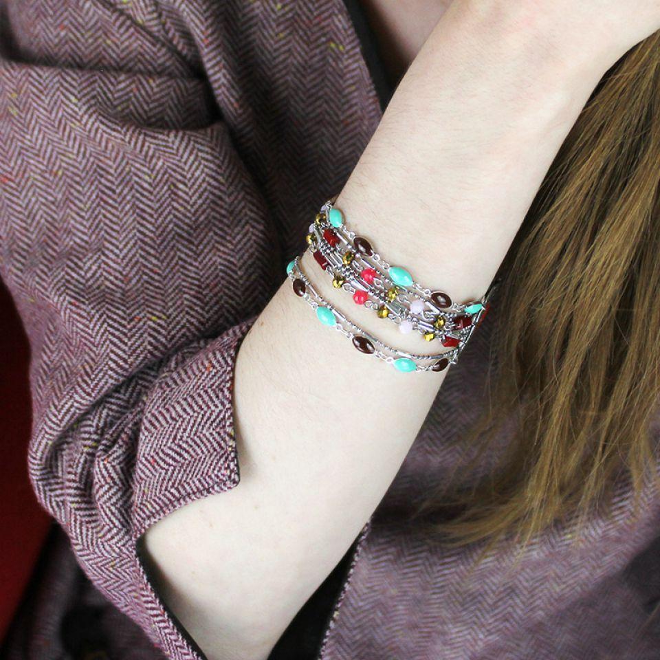 Bracelet Cucaracha Argent Multi Taratata Bijoux Fantaisie en ligne 2