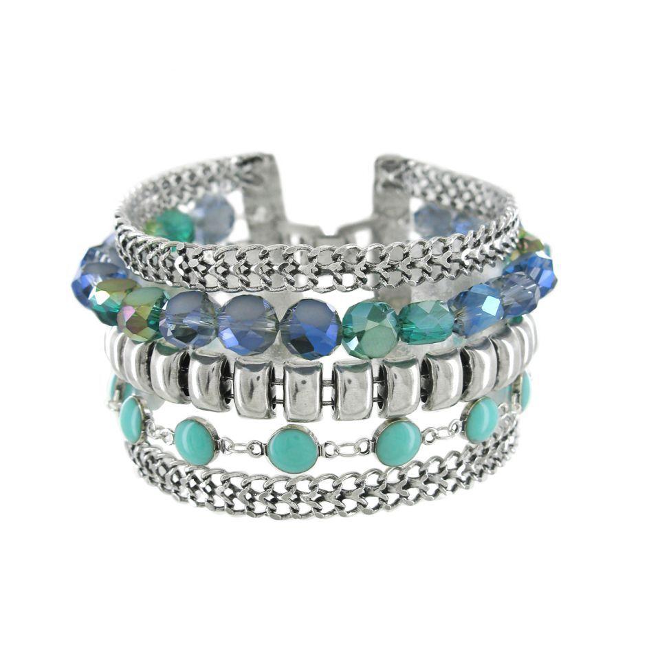 Bracelet Essentiel Argent Bleu Taratata Bijoux Fantaisie en ligne 1