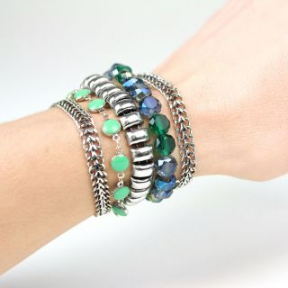 Bracelet Essentiel Argent Bleu