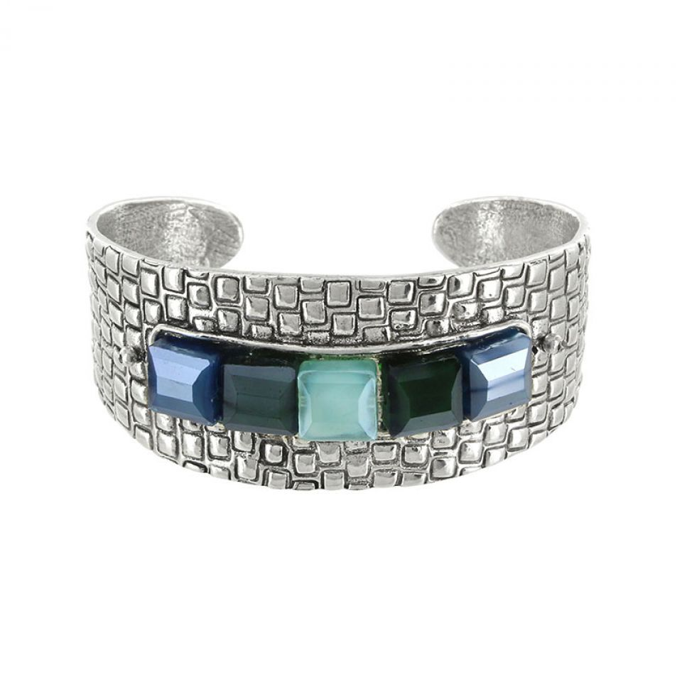 Bracelet Essentiels Argent Bleu Taratata Bijoux Fantaisie en ligne 1