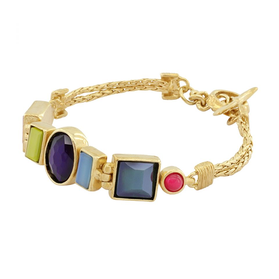 Bracelet Face A Face Dore Multi Taratata Bijoux Fantaisie en ligne 3