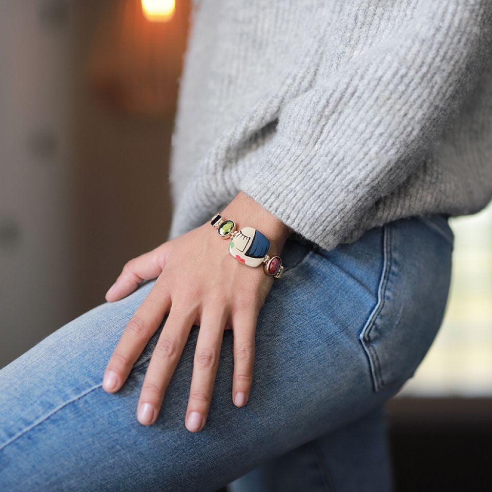 Bracelet Face A Face Dore Multi Taratata Bijoux Fantaisie en ligne 2
