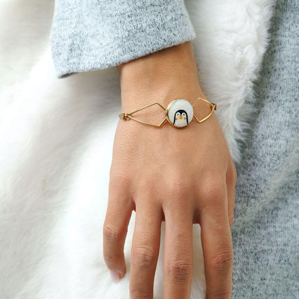 Bracelet Frisquet Couleur Or Blanc Taratata Bijoux Fantaisie en ligne 2
