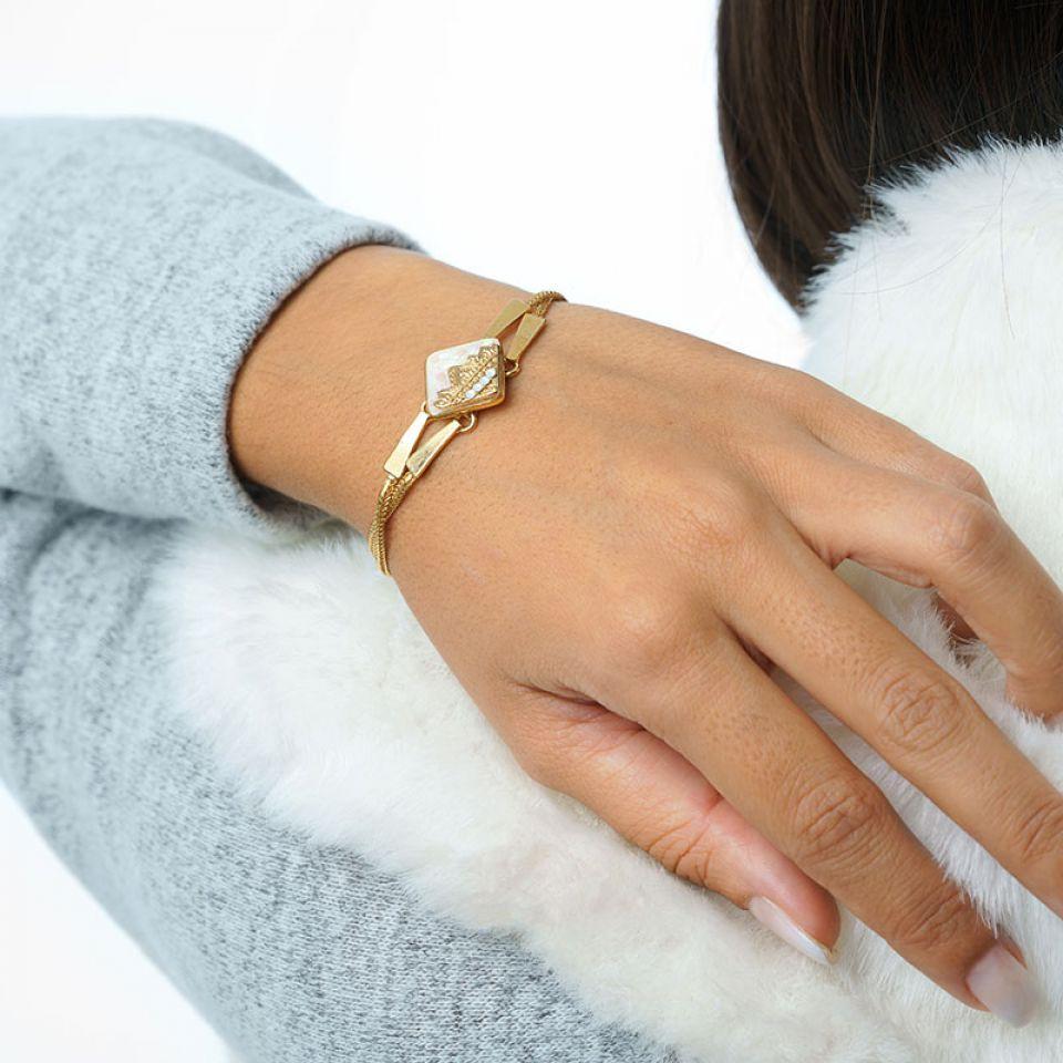 Bracelet Frisquet Couleur Or Blanc Taratata Bijoux Fantaisie en ligne 1
