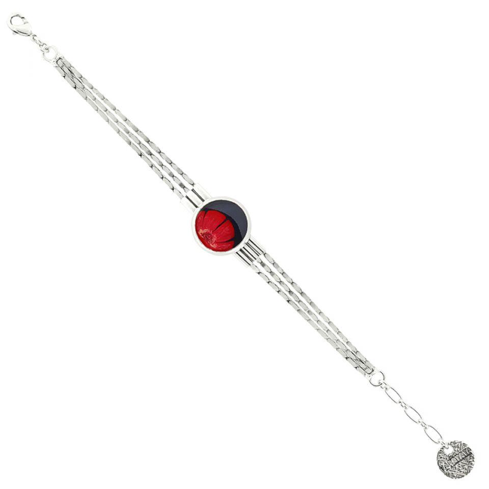 Bracelet Gombos Argent Rouge Taratata Bijoux Fantaisie en ligne 3