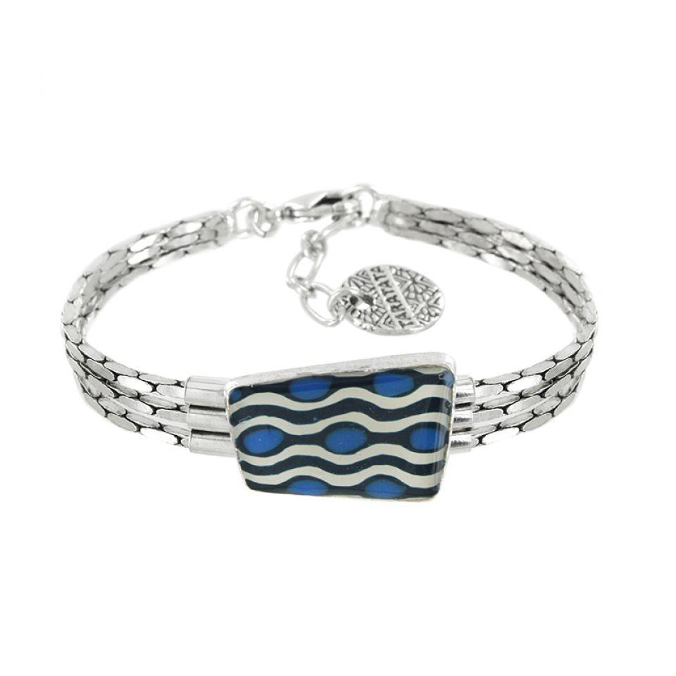 Bracelet Gombos Argent Bleu Taratata Bijoux Fantaisie en ligne 1