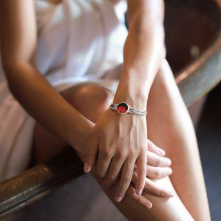 Bracelet Gombos Argent Rouge