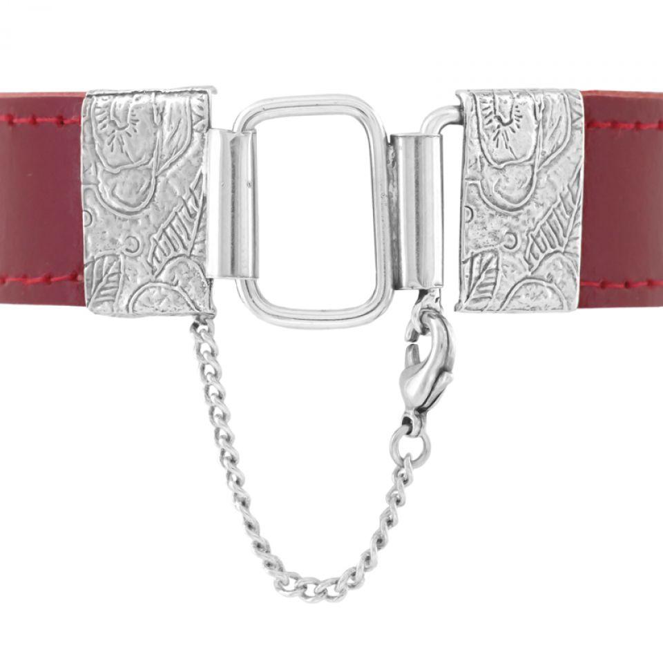 Bracelet Grenadine Argent Rouge Taratata Bijoux Fantaisie en ligne 4