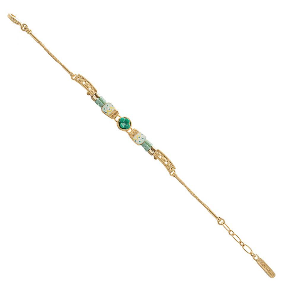 Bracelet Joli Joli Dore Bleu Taratata Bijoux Fantaisie en ligne 1