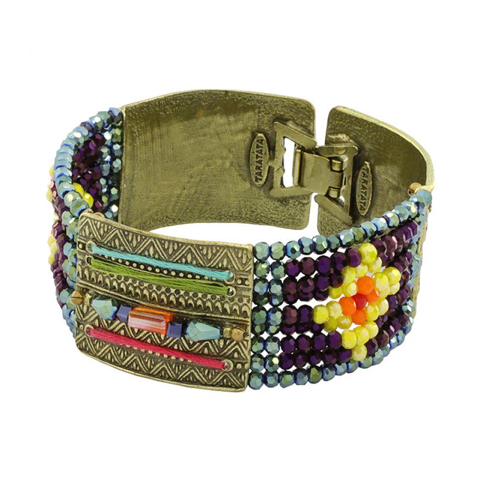 Bracelet Kilim Bronze Multi Taratata Bijoux Fantaisie en ligne 1