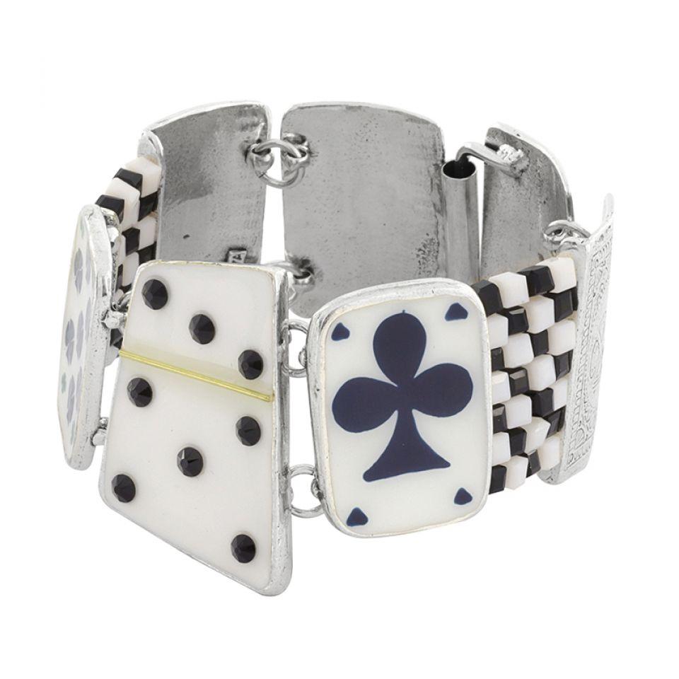 Bracelet L Impasse Argent Blanc Taratata Bijoux Fantaisie en ligne 1
