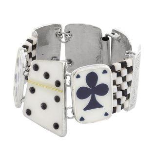 Bracelet L Impasse Argent Blanc