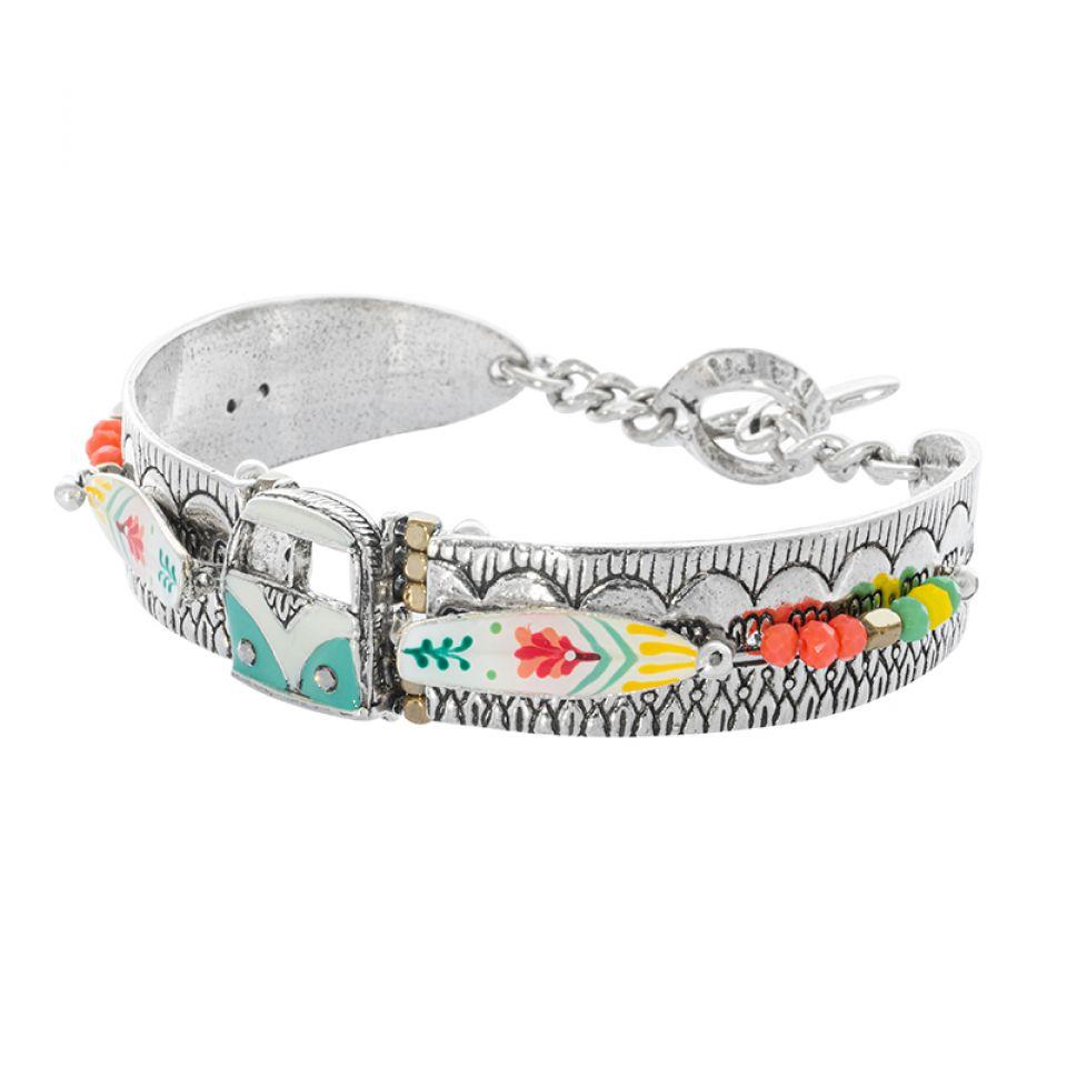 Bracelet La Vague Argente Multi Taratata Bijoux Fantaisie en ligne 1
